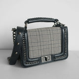 Joss plaid sling bag