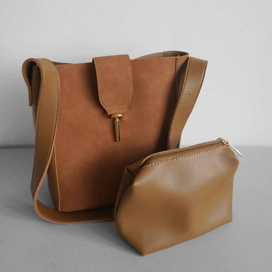 Sheryl leather & suede bag