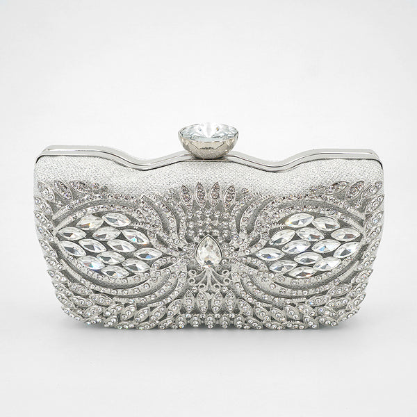 peacock crystal clutch *B1T1