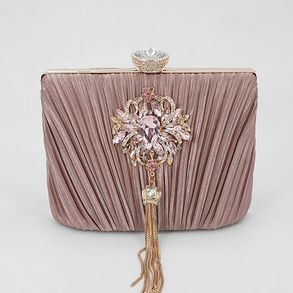 bejeweled tassel clutch *B1T1