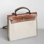 Victress genuine leather & canvas bag