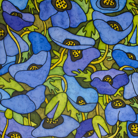 Blue Poppies 20 X 20