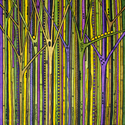 Enchanted Forest Green/Purple 32 X 32