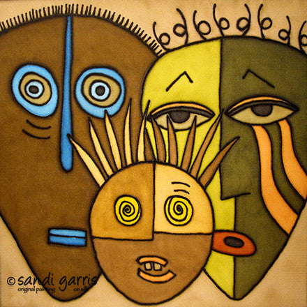 Family of Three ~ Earth 14 X 14