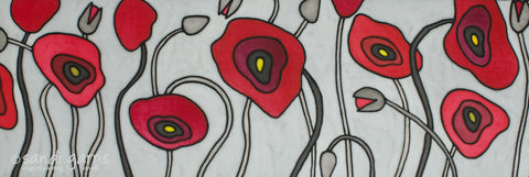 Poppies of Rome 10 X 24