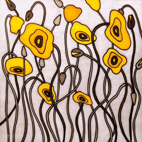 Poppies of Rome ~ Yellow 12 X 12