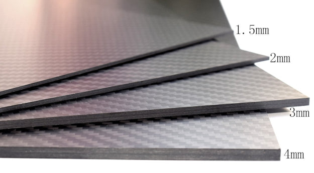 Carbon fiber sheet thickness