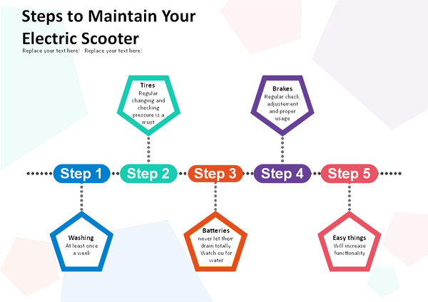 electric scooter maintenance steps