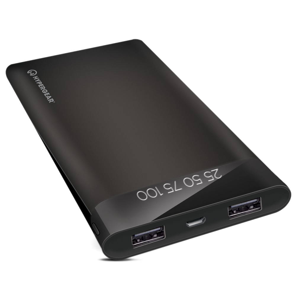 Hypergear Dual USB Portable Battery Pack with Digital Battery Indicator - 20000mAh