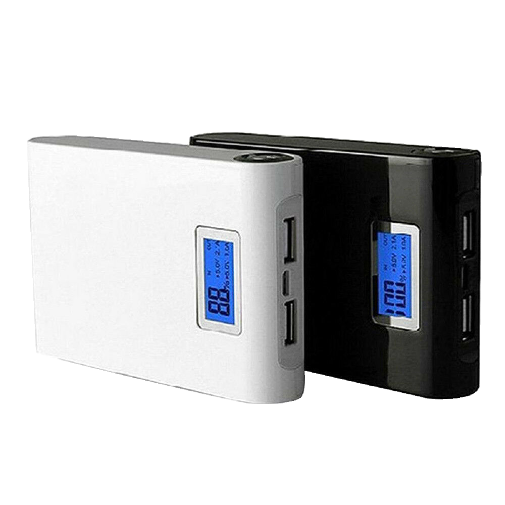 4x 18650 Battery Included 12000mAh Power Bank Shell Box with 2x USB Output & Display