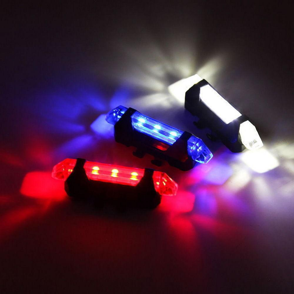 5 LED USB Rechargeable Skateboard Safety Cycling Warning Rear Lamp