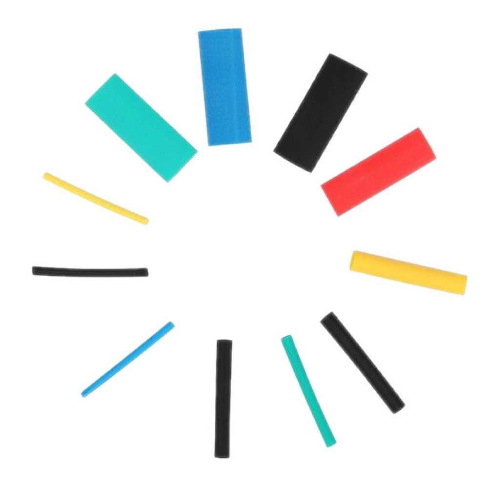 530Pc Heat Shrink Tubing Assorted Wrap Wire Cable Tube 2:1 Sleeve Kit Hardware