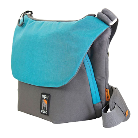 Ape Case Large Tech Messenger Case (Grey & Teal)