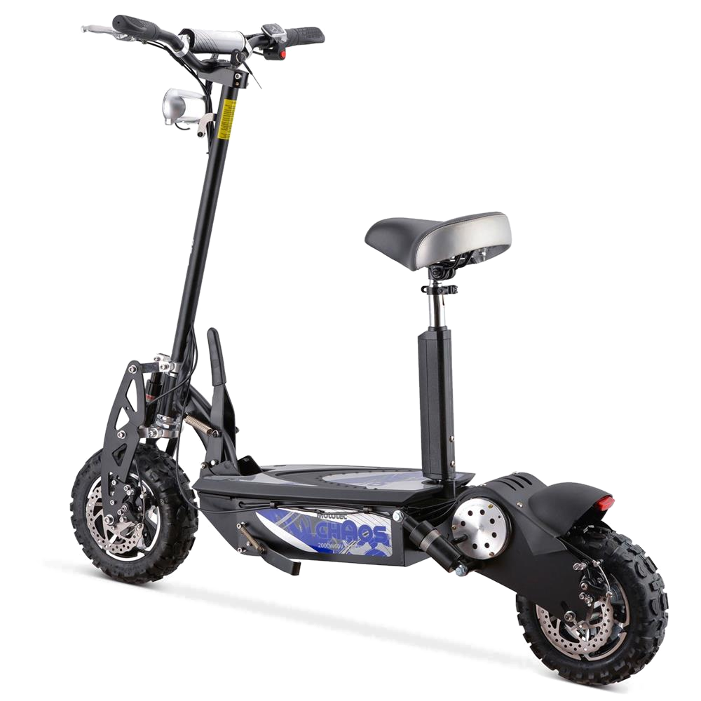MotoTec Chaos 2000w 60v Lithium Electric Scooter Black