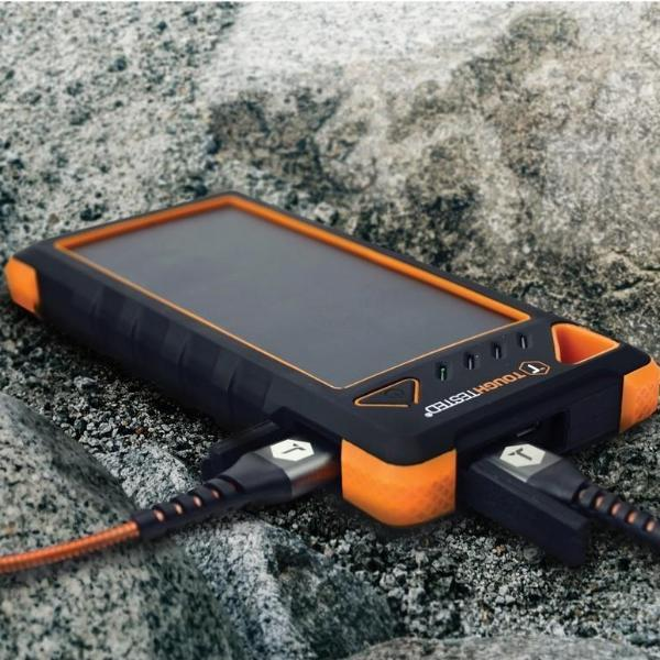 Toughtested 16 000Mah Solar Power Bank With Flashlight Power