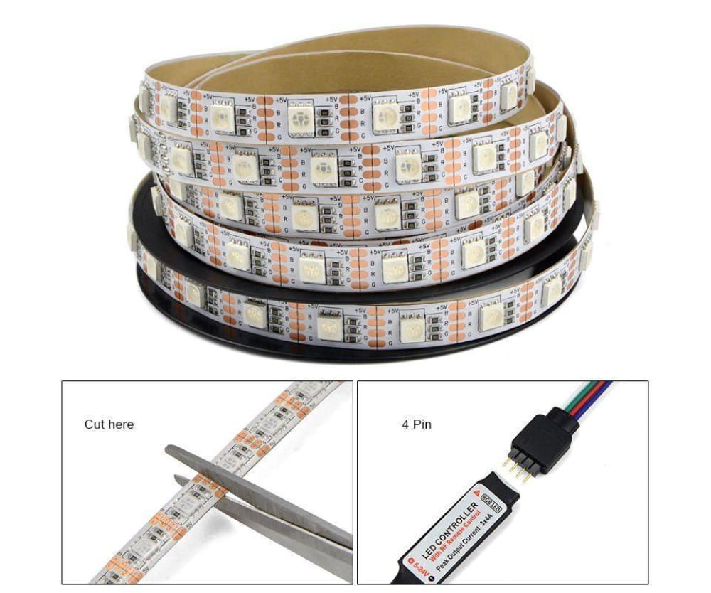Led Tv Usb Backlight Kit Computer Rgb Light Strip Background Lights 6 Ft Long Maker