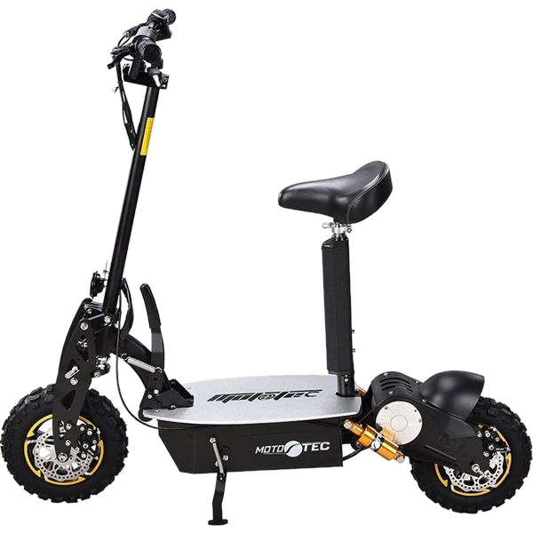 Mototec 2000W 48V Electric Scooter Black Scooter