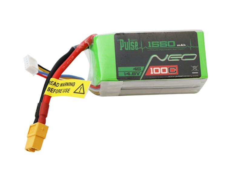 Pulse Neo 1550Mah 4S 14.8V 100C - Fpv Racing / Extreme Series Lipo Battery Battery