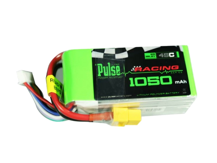 Pulse 1050 Mah 6S 22.2V 45C - Lipo Battery For Fpv Racing Quads Battery
