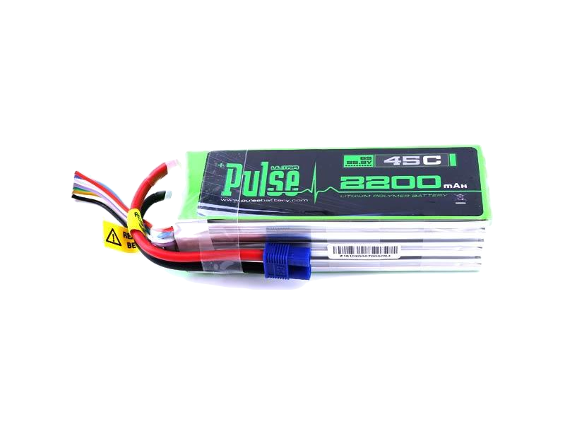 PULSE 2200 mAh 6S 22.2V 45C - LiPo Battery Heli