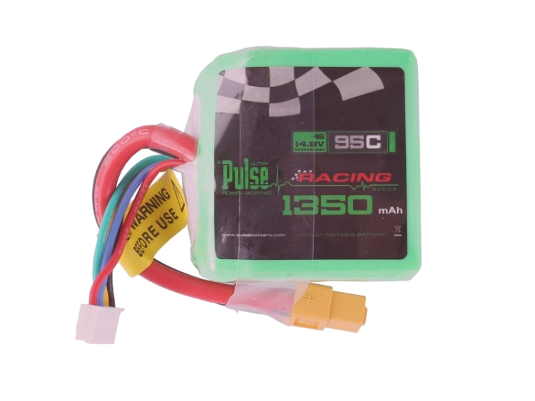 Pulse 1350 Mah 4S 14.8V 95C Cube Lipo Battery With Xt60 Plug Battery