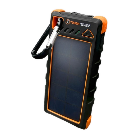 ToughTested 16,000 mAh Solar Power Bank with Flashlight