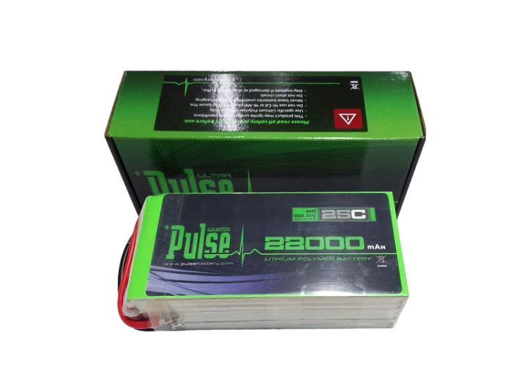 Pulse 22000 Mah 6S 22.2V 25C - Lipo Battery Battery