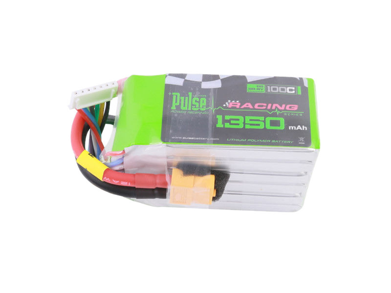 Pulse 1350 Mah 6S 22.2V 100C - Fpv Racing Series Lipo Battery Battery
