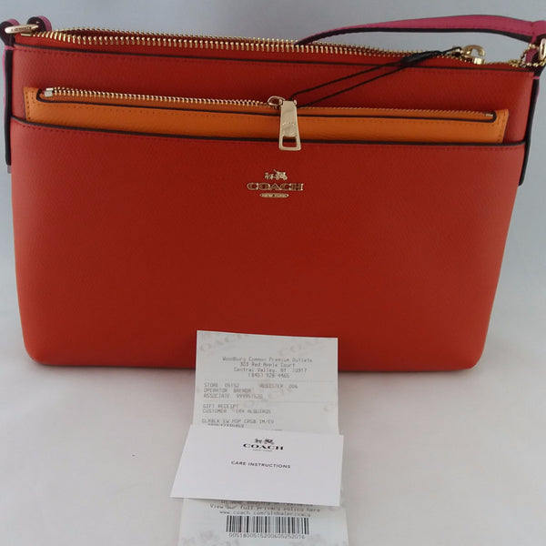 COACH F38122 IMEVW CLRBLK EW POP CROSSBODY CARMINE MULTI