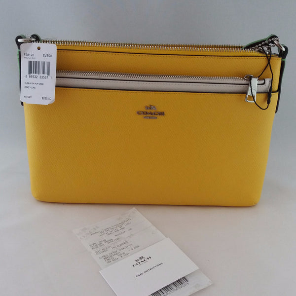 COACH F38122 SVESO CLRBLK EW POP CROSSBODY BAG CANARY MULTI