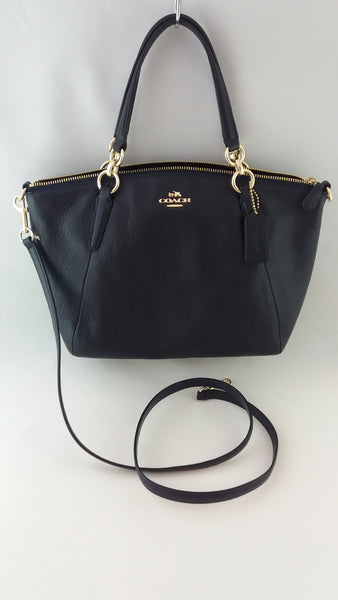 COACH F36675 IMMID PEBBLE LTH SM KELSEY MIDNIGTH
