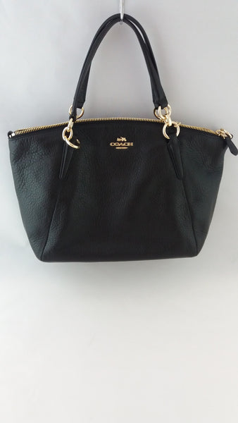 COACH F36675 IMBLK PEBBLE LEATHER SM KELSEY BLACK