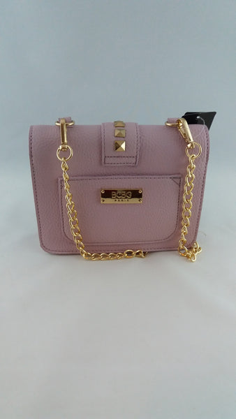 BCBG PARIS STUDDED CAVIAR CROSSBODY