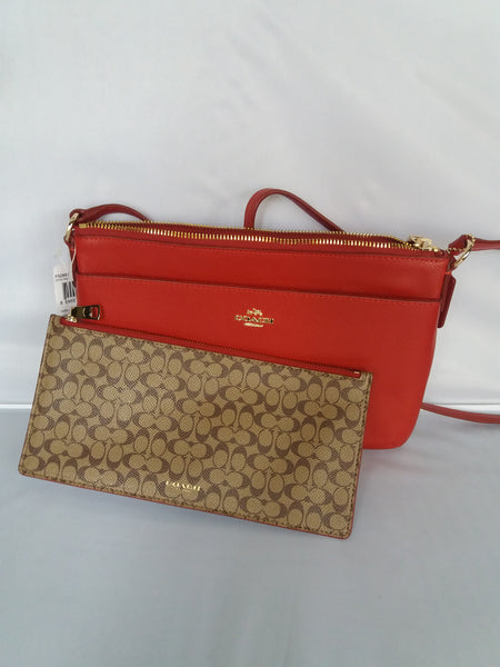 0fdceef26bed ... COACH EAST WEST POP CROSSBODY IN SIGNATURE CANVAS (COACH F52881 IMDN8)  ...