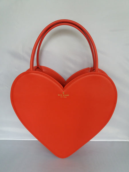 Kate Spade Large Doily Heart Tote Red Great For Valentine's