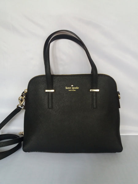 Kate Spade Cedar Street Black Maises Satchel Leather Handbag Pxru4471