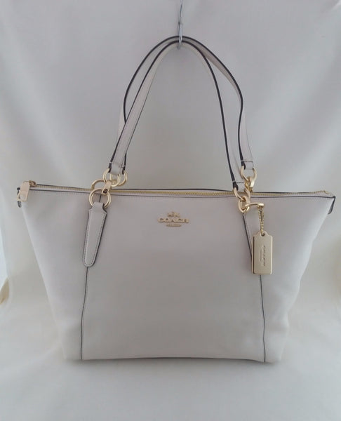 COACH CROSSGRAIN AVA TOTE BAG F57526 IMCHALK