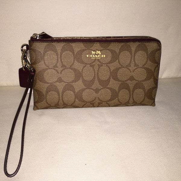 COACH DOUBLE ZIP WALLET IN SIGNATURE F53563 IMAA8