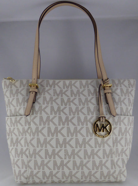 359dd9e3e913 MICHAEL KORS JET SET ITEM 35T2GTTT8B EW TZ TOTE BAG VANILLA –  www.AuthenticBags.Com.Ph