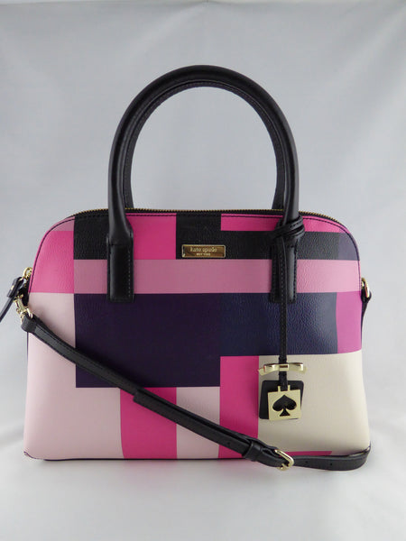 KATE SPADE BRIGHTWATER DRIVE SMALL RACHELLE PINK/BLACK PARTY BAG