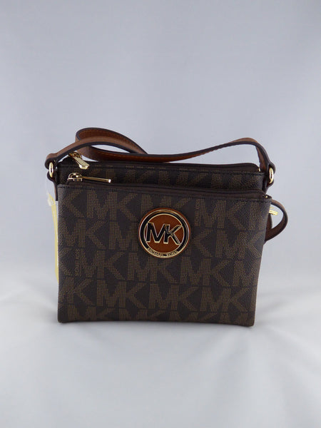 MICHAEL KORS CROSSBODY PURSE FULTON 35F3GFTC3B BROWN