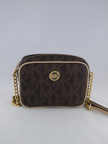 MICHAEL KORS FULTON 35T5GFTC2B CROSSBODY BAG LUGGAGE BROWN LEATHER