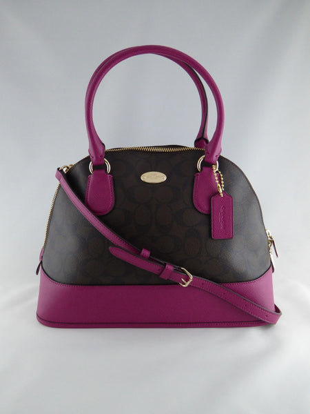 COACH CORA DOMED SATCHEL IN SIGNATURE F33904 SKHOR