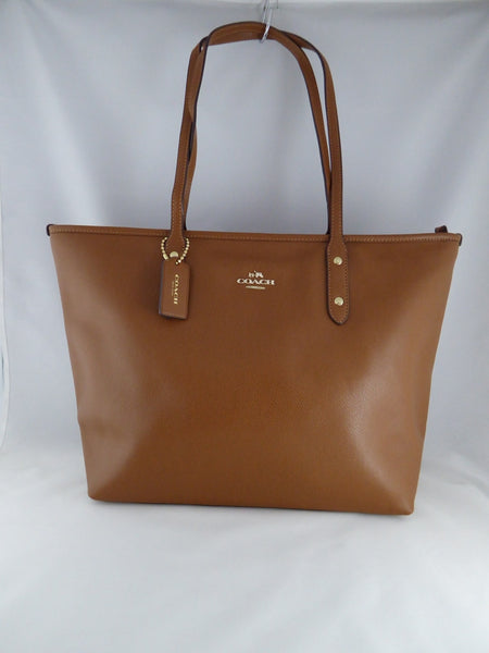 COACH CG LEATHER ZIP TOP TOTE HAND SHOULDER BAG CLASSIC F36675 IMMID