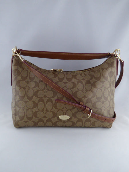 Coach EAST/WEST CELESTE CONVERTIBLE HOBO IN SIGNATURE  COACH STYLE F34899 IMAA8