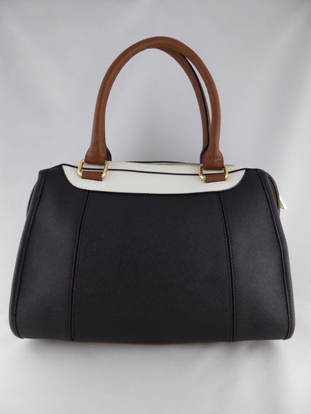 CALVIN KLEIN  LEATHER BROWN BLACK SATCHEL BAG