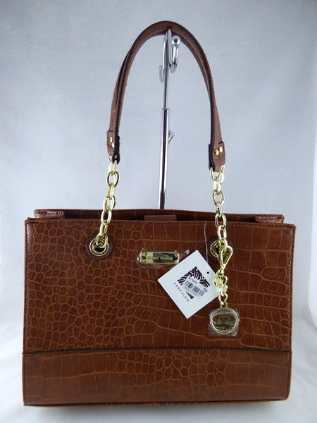 Anne Klein Coast is Clear Small Chain Tote Saddle Crocodile