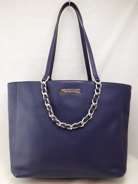 1ca9b409fdf231 Michael Kors Harper 35H5SRPT7E Navy Large Ew Tote Leather