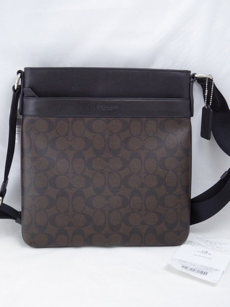 Coach Charles Xbody Signature PVC Crossbody Bag F54781 Brown/Black