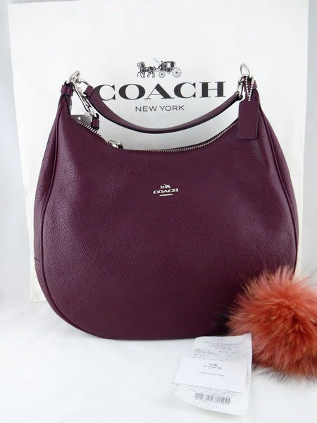 8351ede534 ... coupon code for coach f38259 pebbled leather harley shoulder bag purse  87497 ca0a2